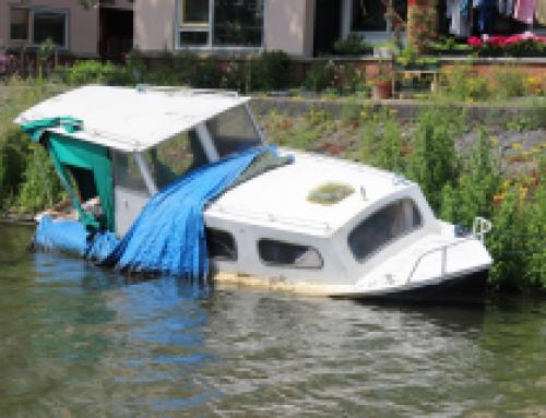 Gezonken boot, wat nu?